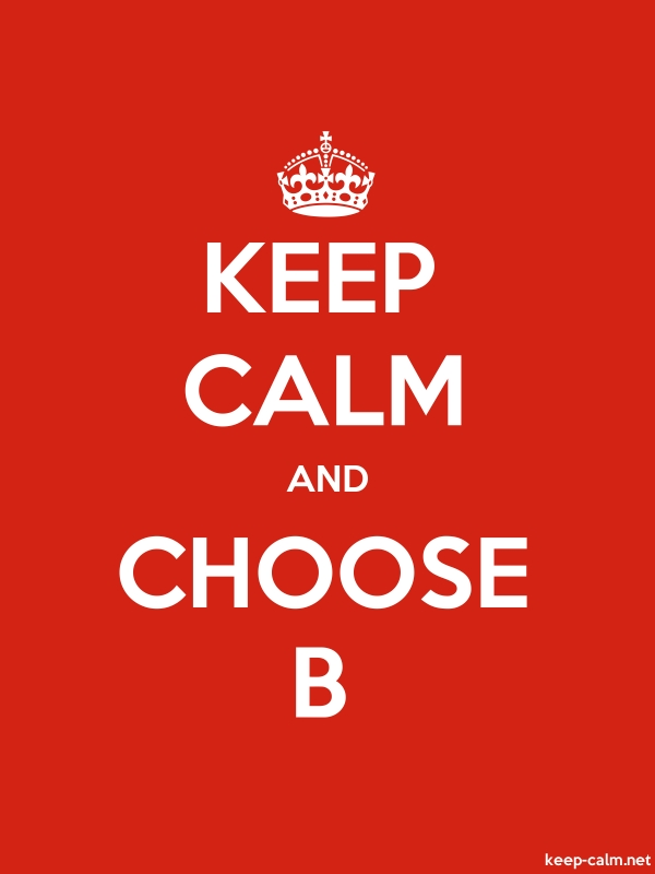 KEEP CALM AND CHOOSE B - white/red - Default (600x800)