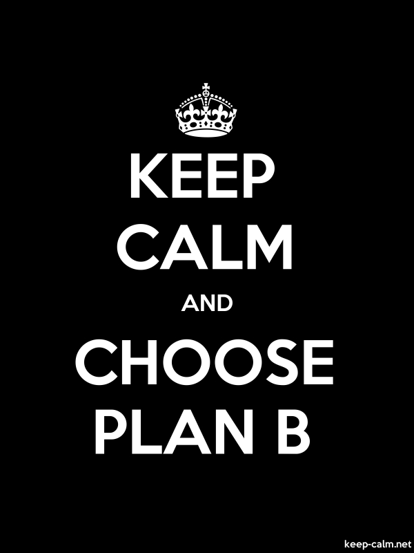 KEEP CALM AND CHOOSE PLAN B - white/black - Default (600x800)