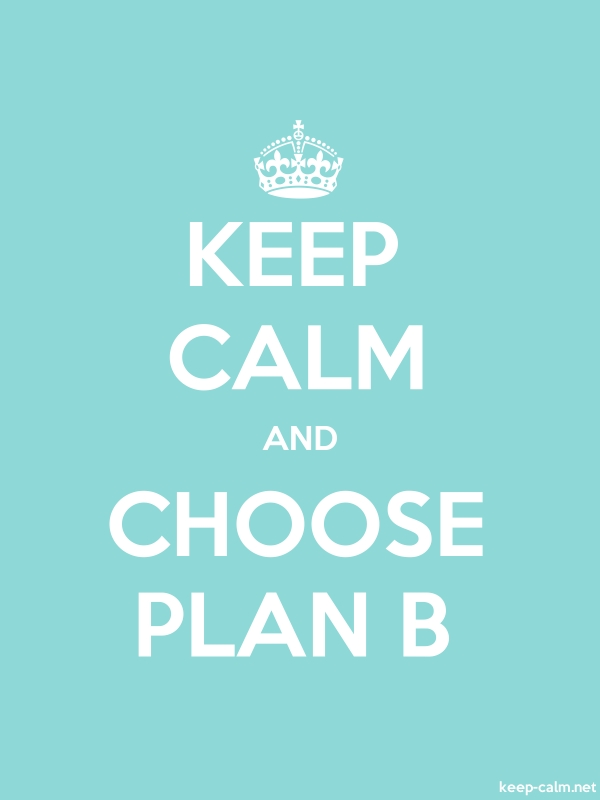 KEEP CALM AND CHOOSE PLAN B - white/lightblue - Default (600x800)