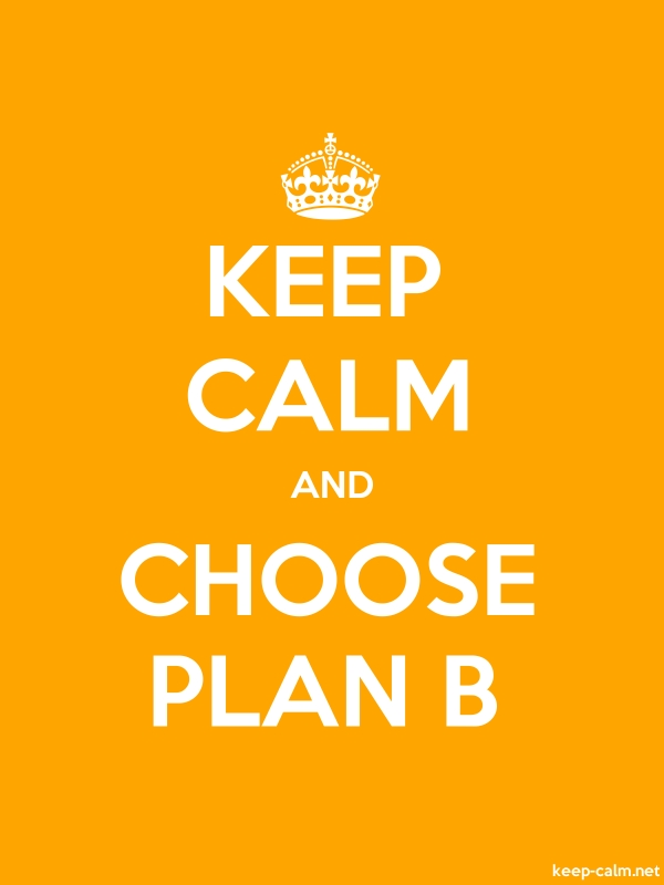 KEEP CALM AND CHOOSE PLAN B - white/orange - Default (600x800)