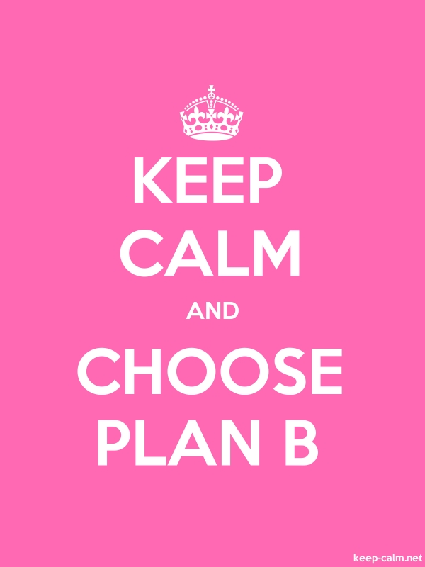 KEEP CALM AND CHOOSE PLAN B - white/pink - Default (600x800)