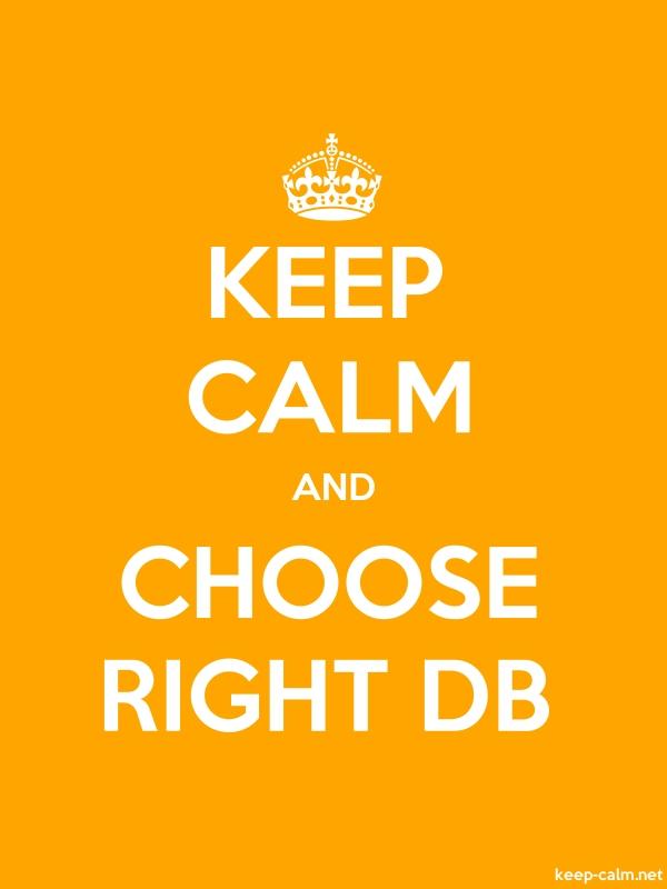 KEEP CALM AND CHOOSE RIGHT DB - white/orange - Default (600x800)