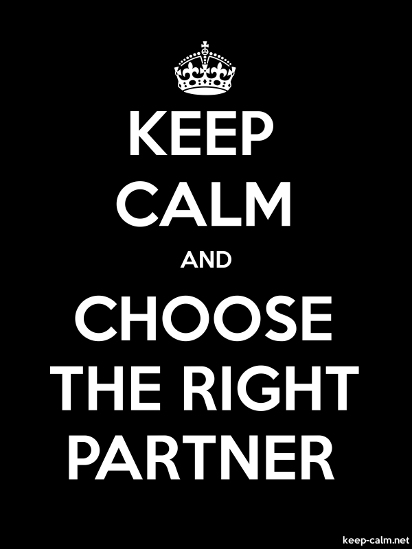 KEEP CALM AND CHOOSE THE RIGHT PARTNER - white/black - Default (600x800)