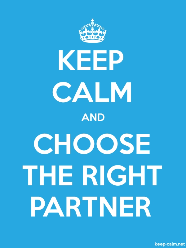 KEEP CALM AND CHOOSE THE RIGHT PARTNER - white/blue - Default (600x800)
