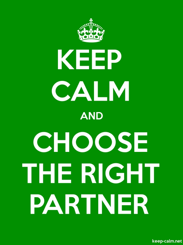 KEEP CALM AND CHOOSE THE RIGHT PARTNER - white/green - Default (600x800)