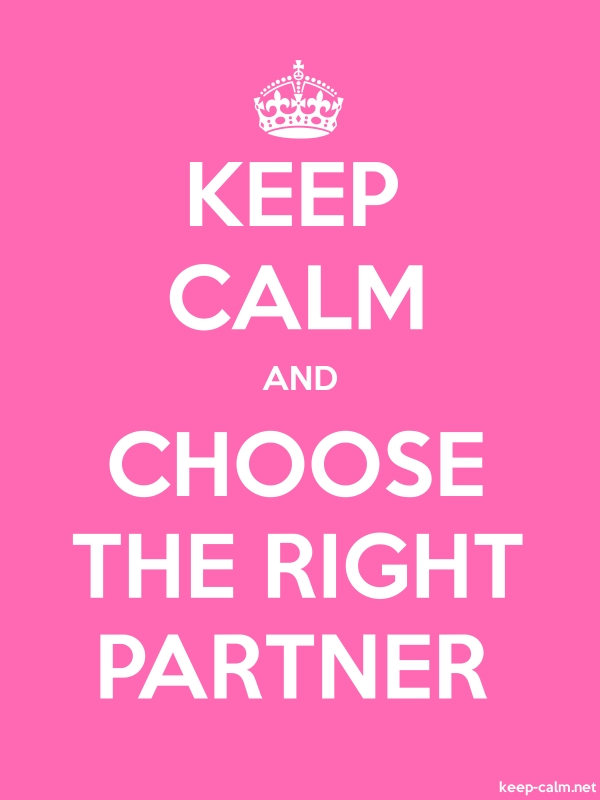 KEEP CALM AND CHOOSE THE RIGHT PARTNER - white/pink - Default (600x800)