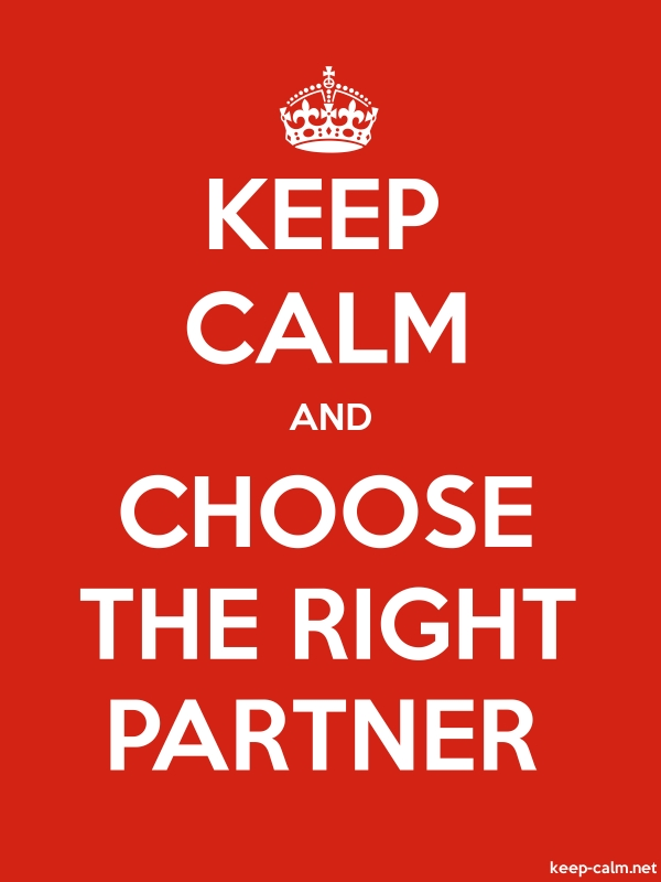 KEEP CALM AND CHOOSE THE RIGHT PARTNER - white/red - Default (600x800)