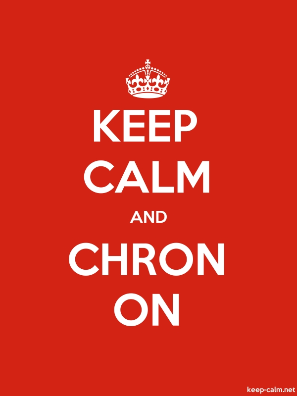 KEEP CALM AND CHRON ON - white/red - Default (600x800)