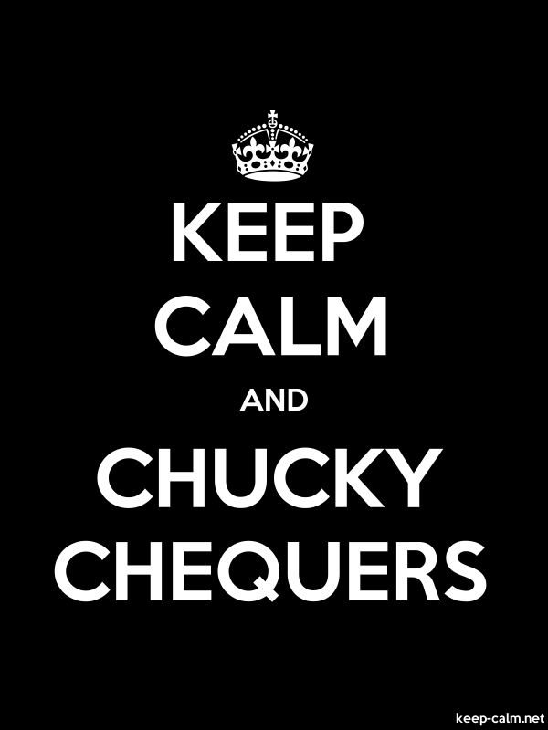 KEEP CALM AND CHUCKY CHEQUERS - white/black - Default (600x800)