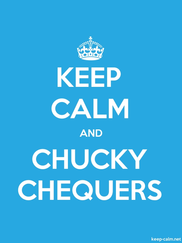 KEEP CALM AND CHUCKY CHEQUERS - white/blue - Default (600x800)