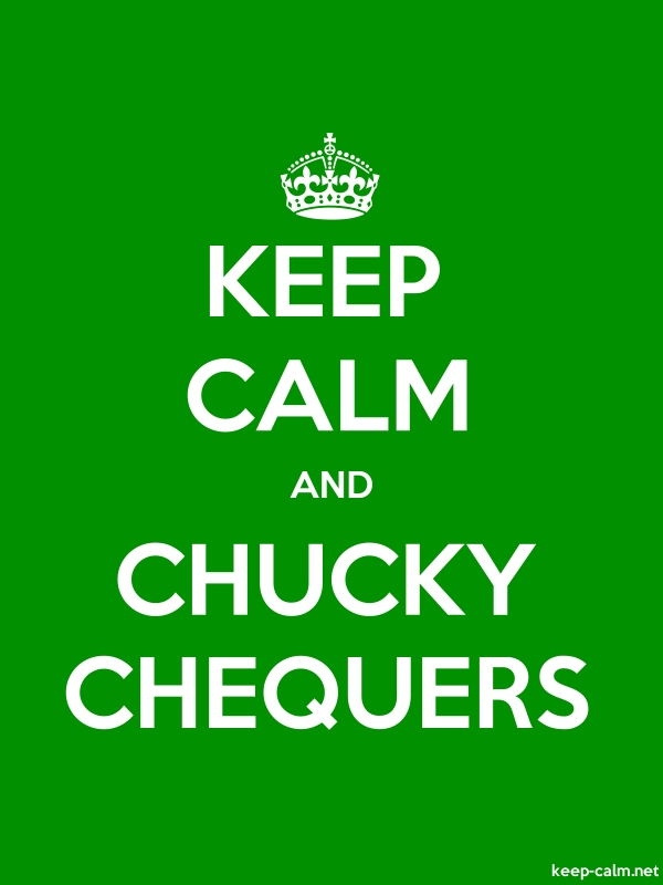 KEEP CALM AND CHUCKY CHEQUERS - white/green - Default (600x800)