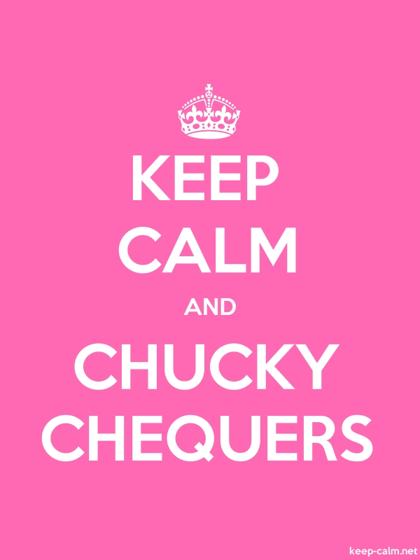 KEEP CALM AND CHUCKY CHEQUERS - white/pink - Default (600x800)