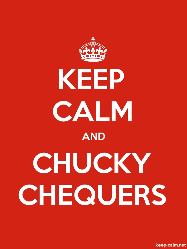 KEEP CALM AND CHUCKY CHEQUERS - white/red - Default (600x800)