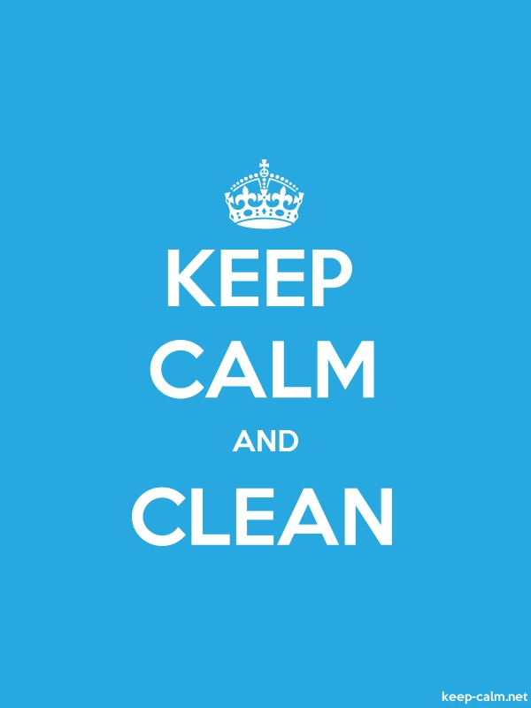 KEEP CALM AND CLEAN - white/blue - Default (600x800)