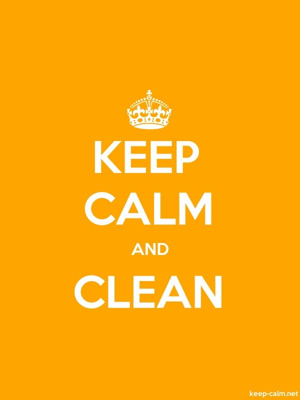 KEEP CALM AND CLEAN - white/orange - Default (600x800)