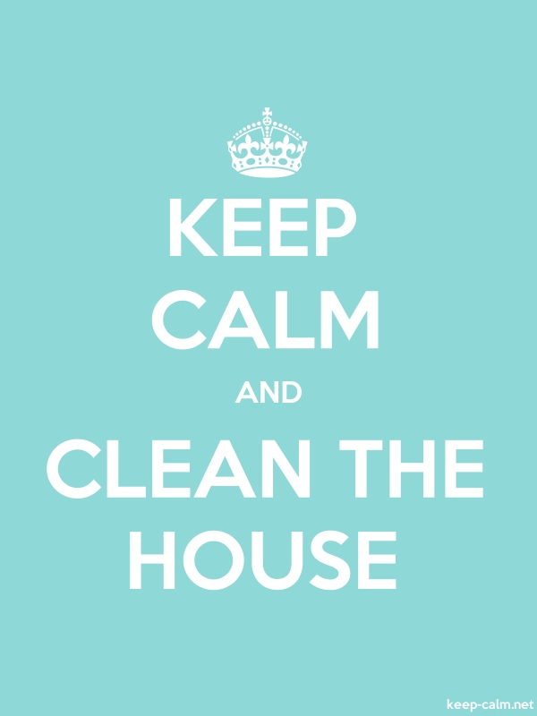 KEEP CALM AND CLEAN THE HOUSE - white/lightblue - Default (600x800)