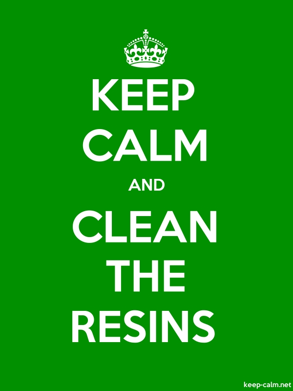 KEEP CALM AND CLEAN THE RESINS - white/green - Default (600x800)