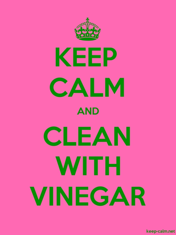 KEEP CALM AND CLEAN WITH VINEGAR - green/pink - Default (600x800)