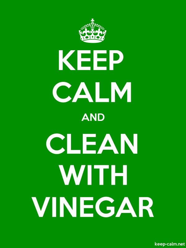 KEEP CALM AND CLEAN WITH VINEGAR - white/green - Default (600x800)