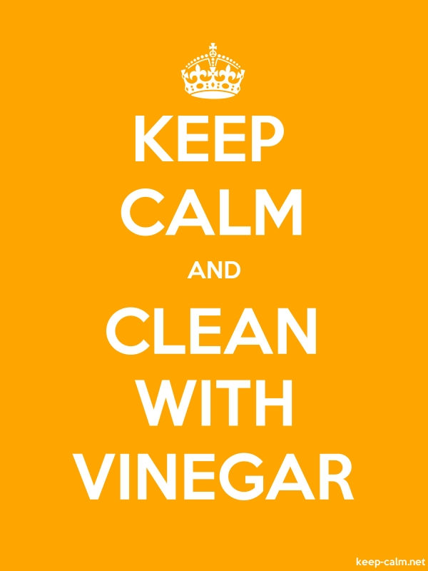 KEEP CALM AND CLEAN WITH VINEGAR - white/orange - Default (600x800)