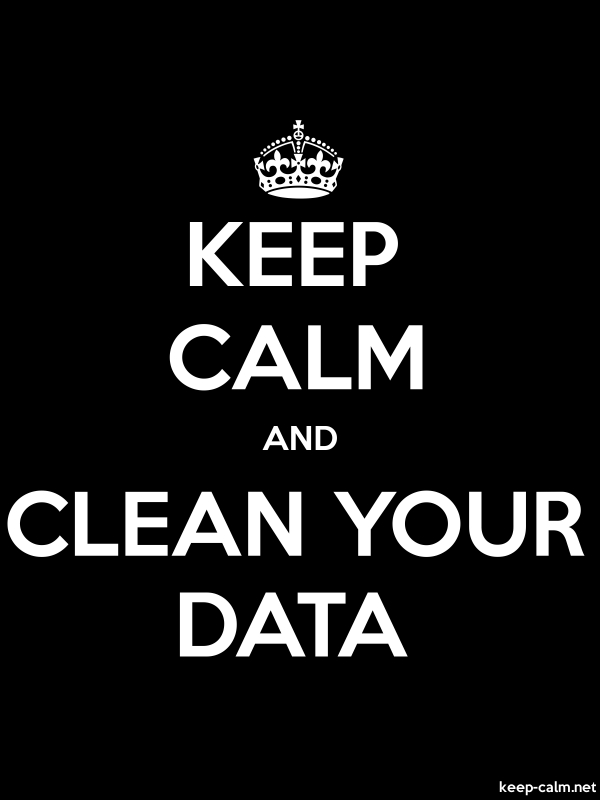 KEEP CALM AND CLEAN YOUR DATA - white/black - Default (600x800)