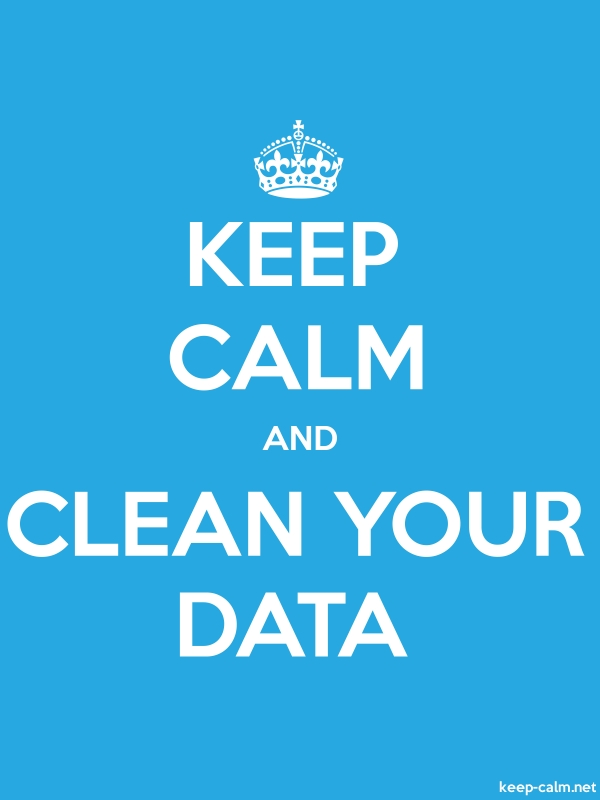 KEEP CALM AND CLEAN YOUR DATA - white/blue - Default (600x800)