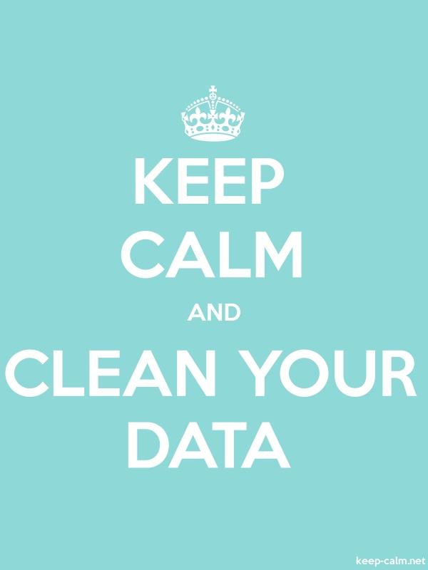 KEEP CALM AND CLEAN YOUR DATA - white/lightblue - Default (600x800)