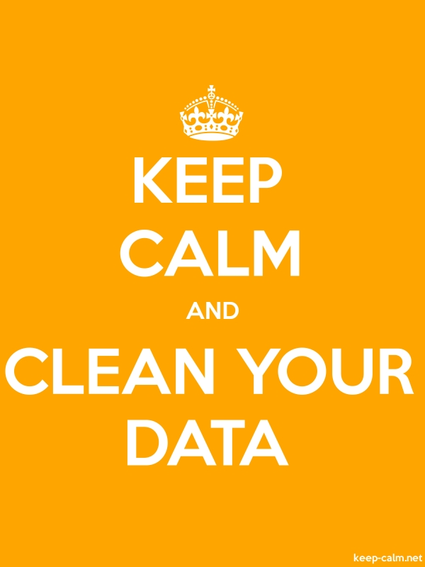 KEEP CALM AND CLEAN YOUR DATA - white/orange - Default (600x800)