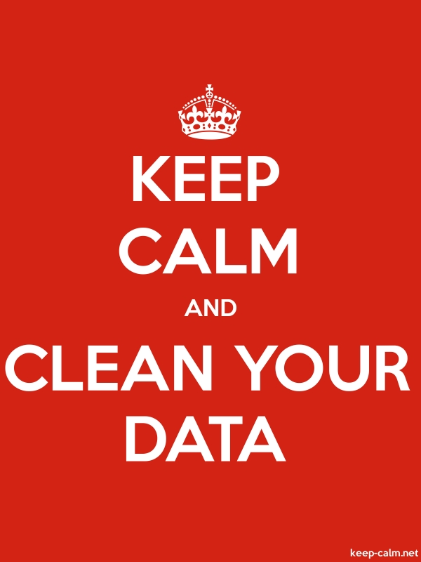 KEEP CALM AND CLEAN YOUR DATA - white/red - Default (600x800)