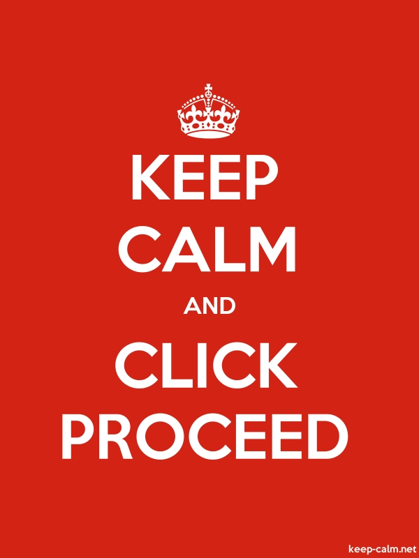 KEEP CALM AND CLICK PROCEED - white/red - Default (600x800)