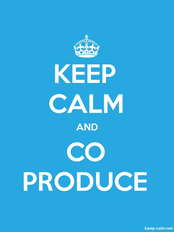 KEEP CALM AND CO PRODUCE - white/blue - Default (600x800)
