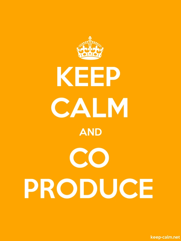 KEEP CALM AND CO PRODUCE - white/orange - Default (600x800)