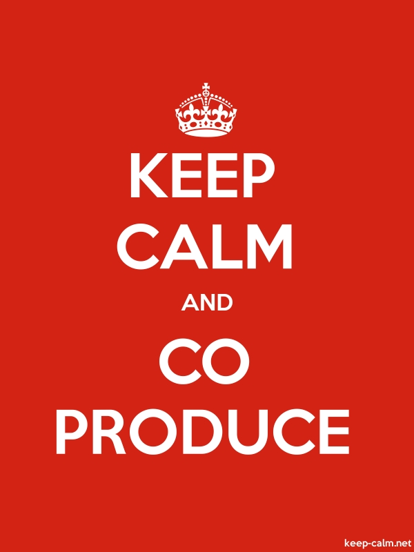 KEEP CALM AND CO PRODUCE - white/red - Default (600x800)