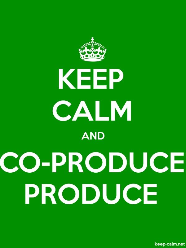 KEEP CALM AND CO-PRODUCE PRODUCE - white/green - Default (600x800)