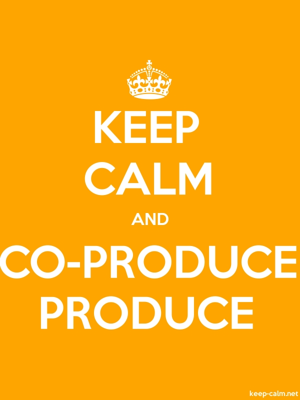 KEEP CALM AND CO-PRODUCE PRODUCE - white/orange - Default (600x800)