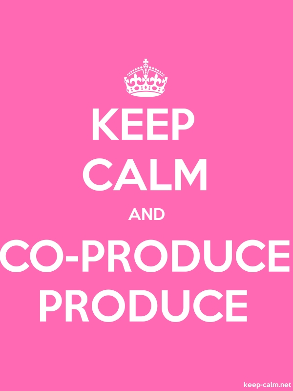 KEEP CALM AND CO-PRODUCE PRODUCE - white/pink - Default (600x800)