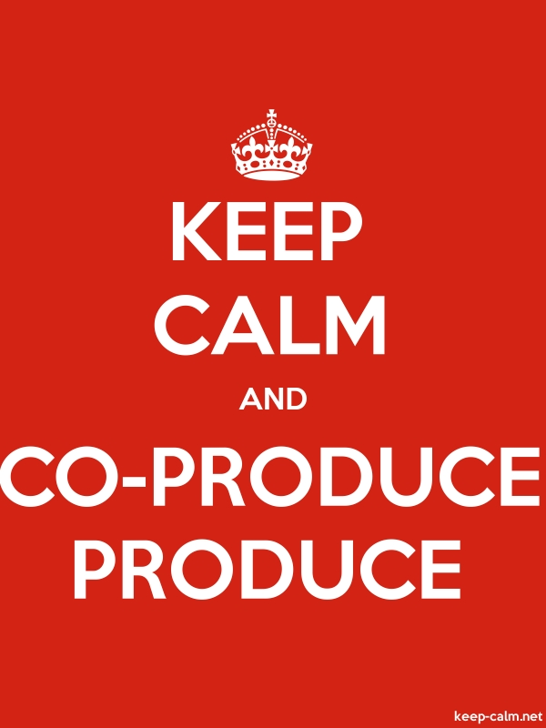 KEEP CALM AND CO-PRODUCE PRODUCE - white/red - Default (600x800)