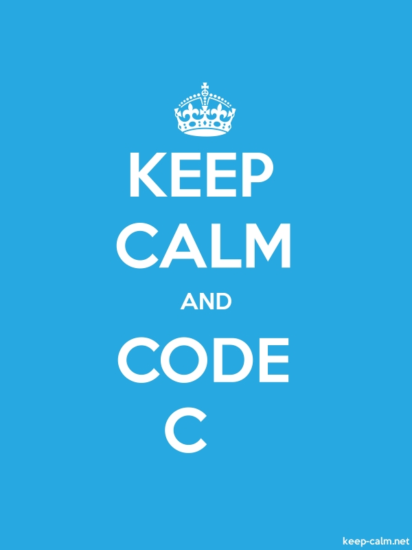 KEEP CALM AND CODE C - white/blue - Default (600x800)