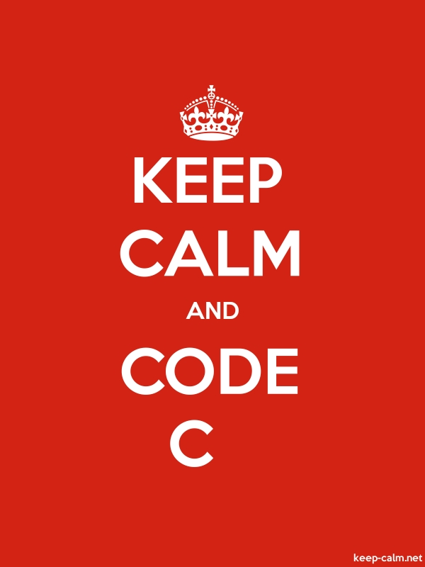 KEEP CALM AND CODE C - white/red - Default (600x800)