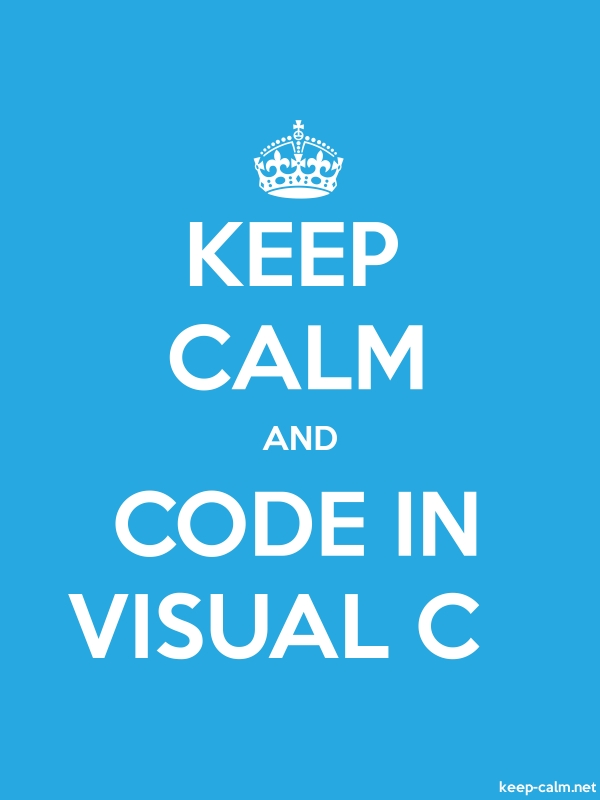 KEEP CALM AND CODE IN VISUAL C - white/blue - Default (600x800)