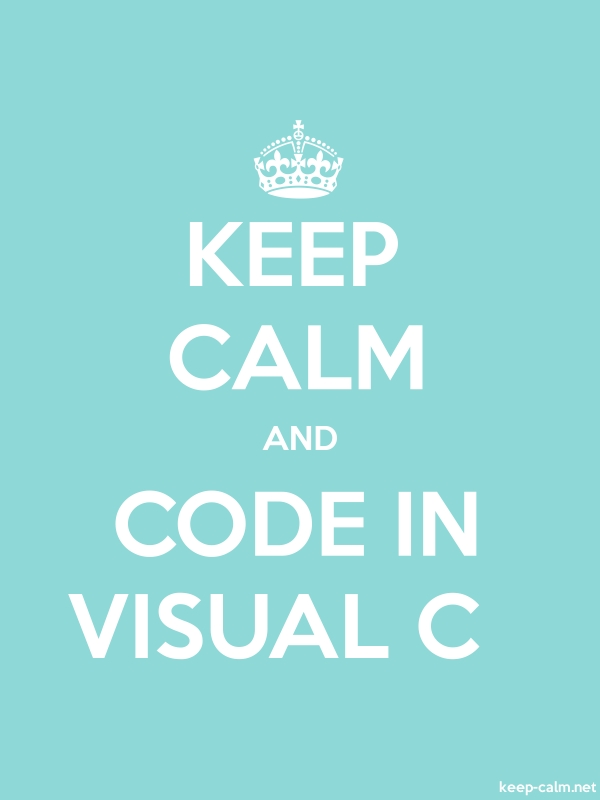 KEEP CALM AND CODE IN VISUAL C - white/lightblue - Default (600x800)