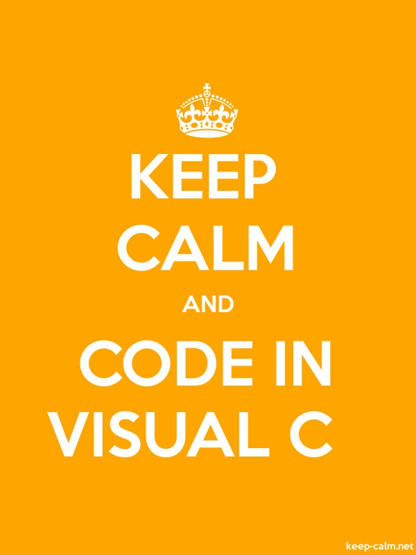 KEEP CALM AND CODE IN VISUAL C - white/orange - Default (600x800)