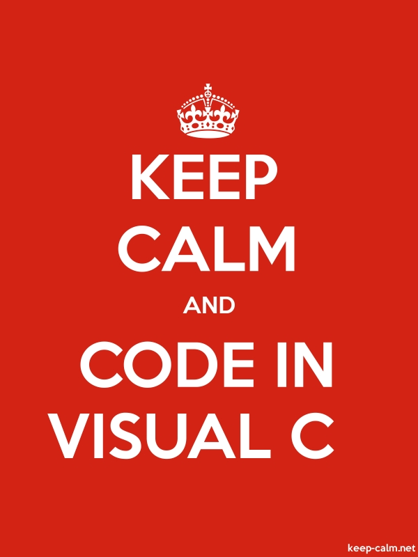 KEEP CALM AND CODE IN VISUAL C - white/red - Default (600x800)