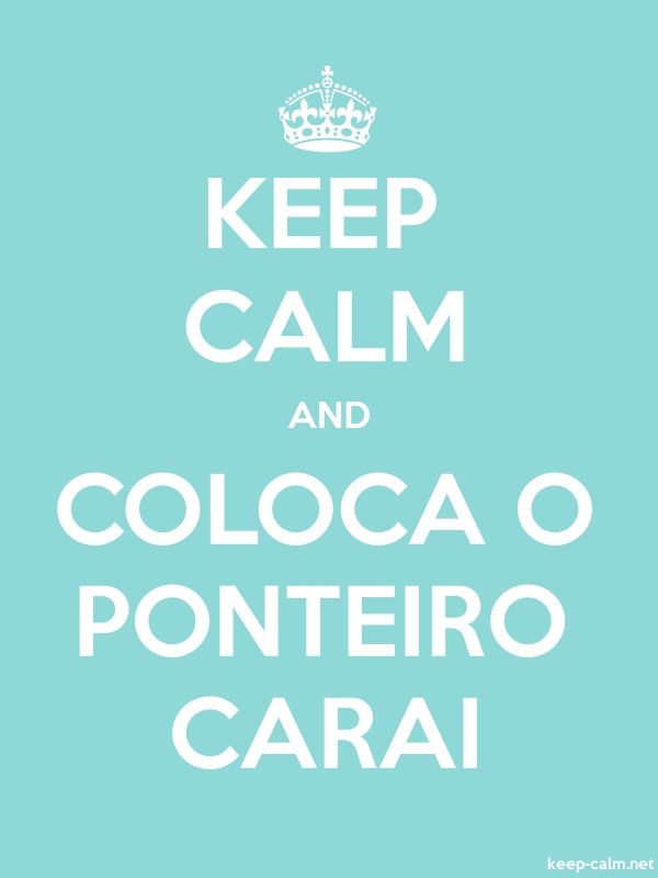 KEEP CALM AND COLOCA O PONTEIRO CARAI - white/lightblue - Default (600x800)