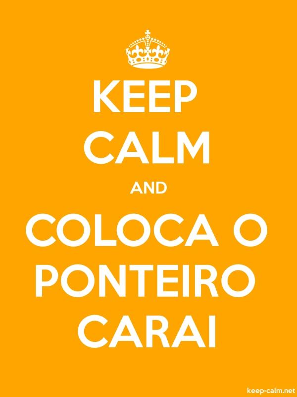 KEEP CALM AND COLOCA O PONTEIRO CARAI - white/orange - Default (600x800)