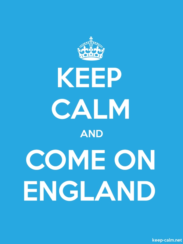 KEEP CALM AND COME ON ENGLAND - white/blue - Default (600x800)