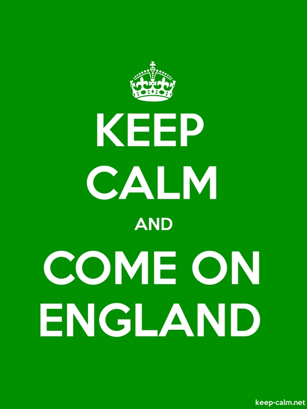 KEEP CALM AND COME ON ENGLAND - white/green - Default (600x800)