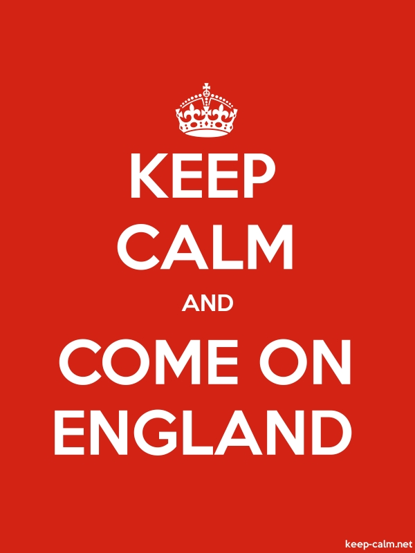 KEEP CALM AND COME ON ENGLAND - white/red - Default (600x800)