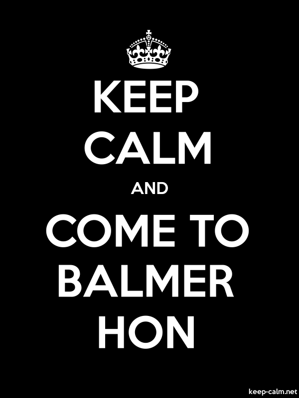 KEEP CALM AND COME TO BALMER HON - white/black - Default (600x800)