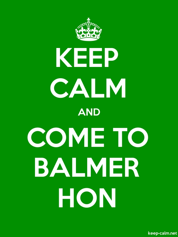 KEEP CALM AND COME TO BALMER HON - white/green - Default (600x800)